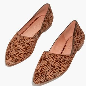 Madewell Lizbeth Flat In Dotted Calf Hair